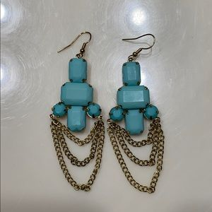 Real and Gold Earrings